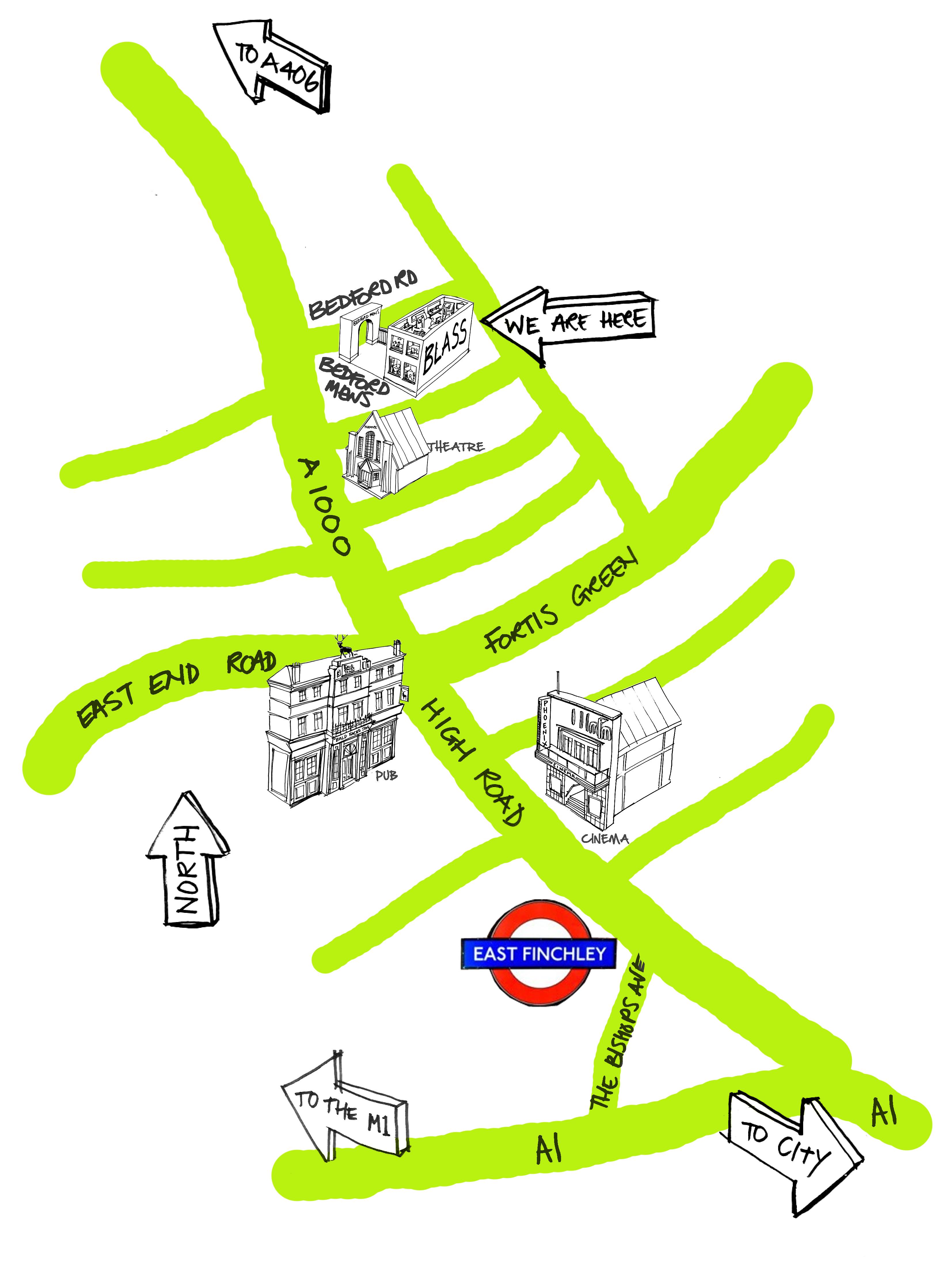 Blass Map, East Finchley, London