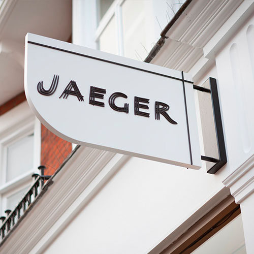 JAEGER 01_London_Interior Design_Retail_Shopfront_Projecting sign_Kings Road_